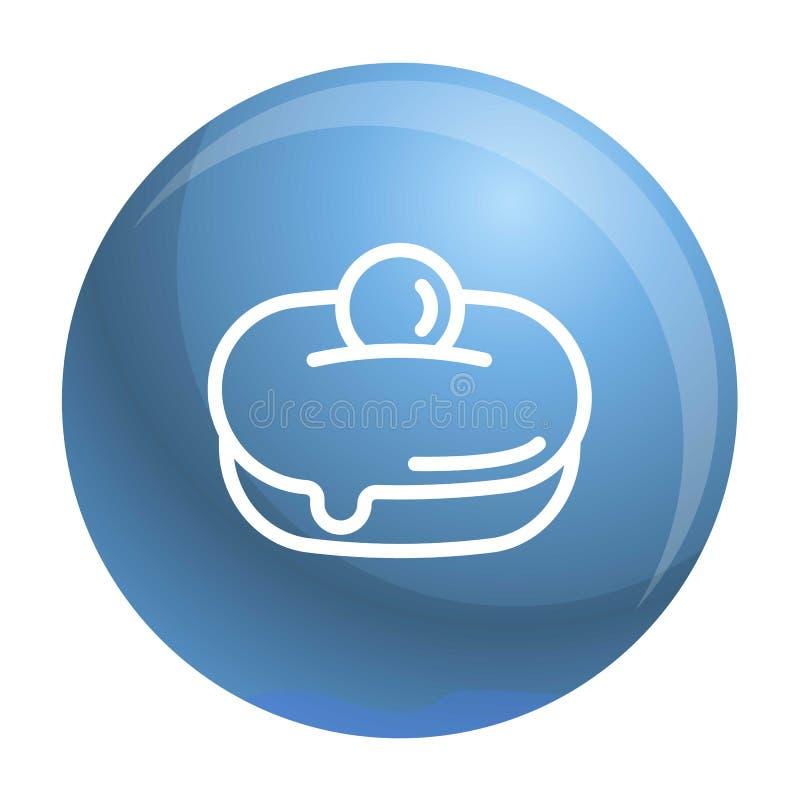 Εβραϊκό γλυκό εικονίδιο αρτοποιείων, ύφος περιλήψεων ελεύθερη απεικόνιση δικαιώματος