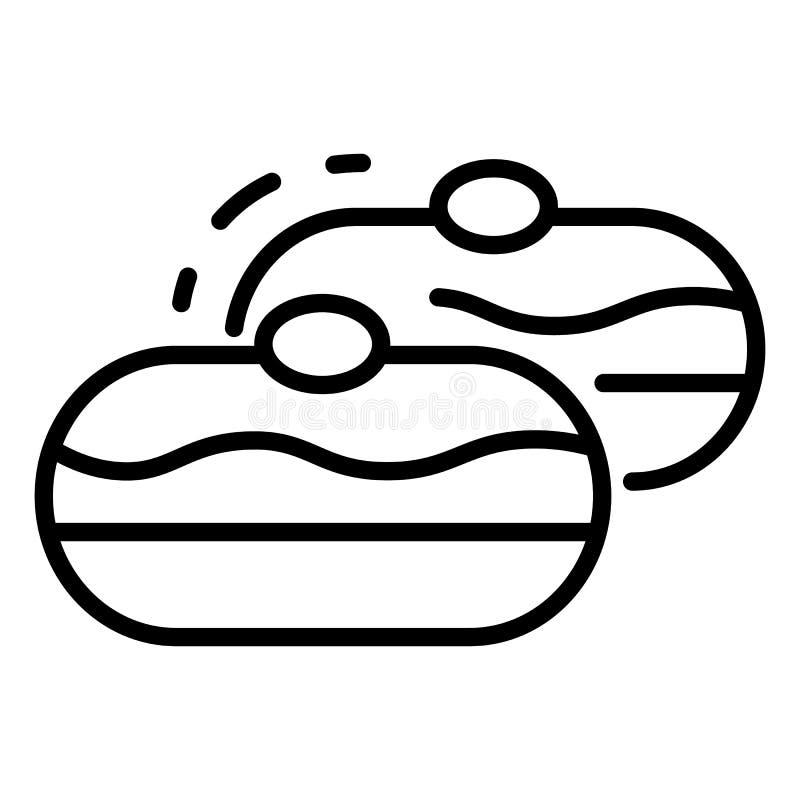 Εβραϊκό εικονίδιο αρτοποιείων, ύφος περιλήψεων διανυσματική απεικόνιση