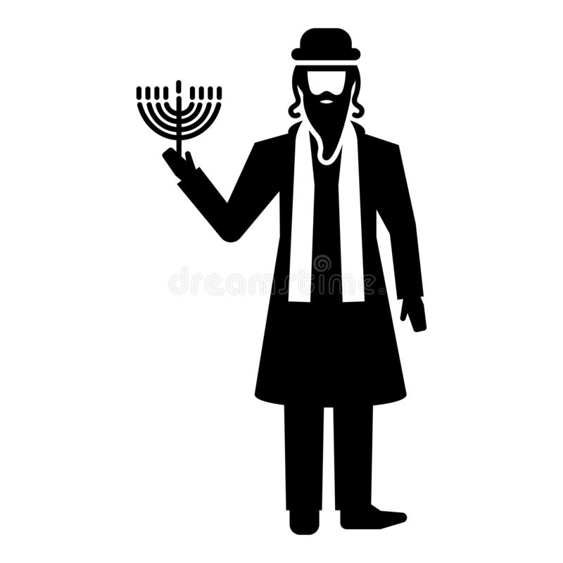 Εβραϊκό εικονίδιο ατόμων, απλό ύφος ελεύθερη απεικόνιση δικαιώματος