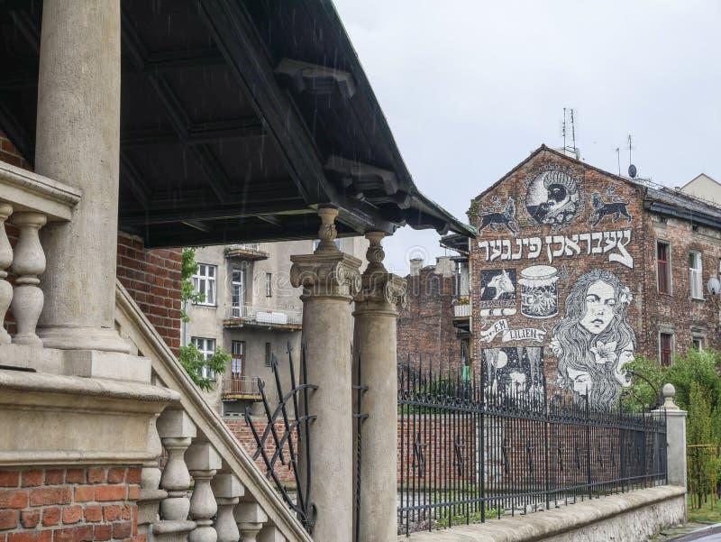 Εβραϊκό μέρος της Κρακοβίας αποκαλούμενο Kazimierz στοκ φωτογραφίες με δικαίωμα ελεύθερης χρήσης