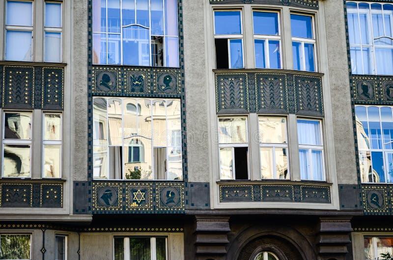 Εβραϊκό τέταρτο στην Πράγα στοκ φωτογραφία με δικαίωμα ελεύθερης χρήσης