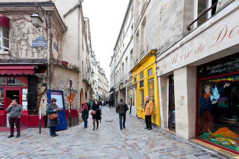 Εβραϊκό τέταρτο LE Marais στο Παρίσι, Γαλλία στοκ εικόνα