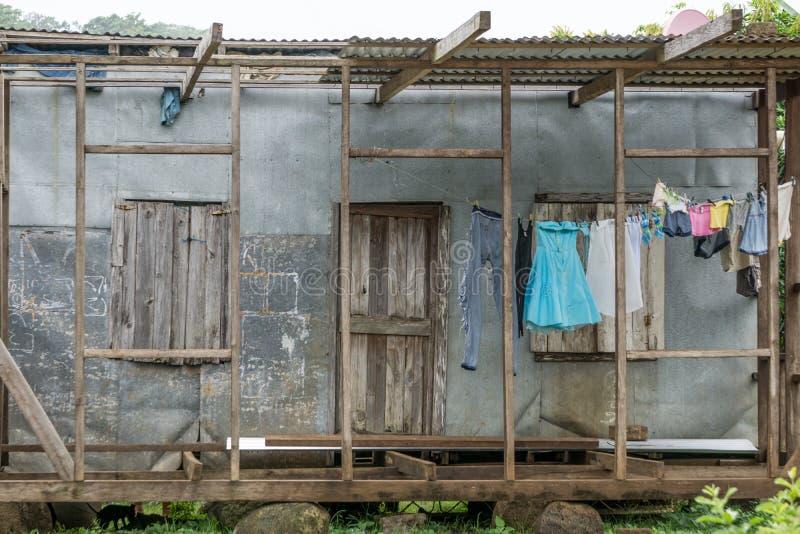 Εγγενές νησί καλαμποκιού της Νικαράγουας Κεντρική Αμερική ζουγκλών σπιτιών, Νικαράγουα στοκ φωτογραφία με δικαίωμα ελεύθερης χρήσης
