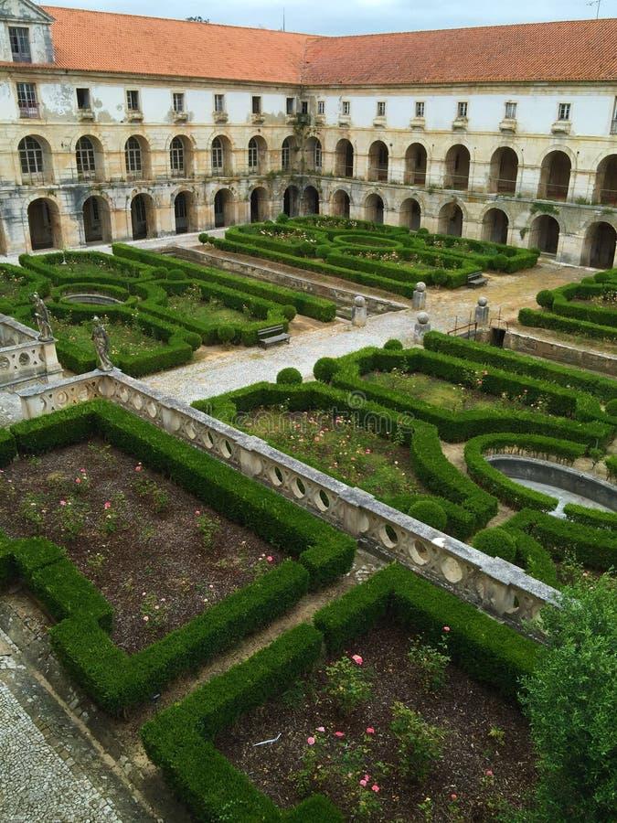 Εγγενές όνομα πορτογαλικά μοναστηριών Alcobaça: Mosteiro de Alcobaça στοκ εικόνα