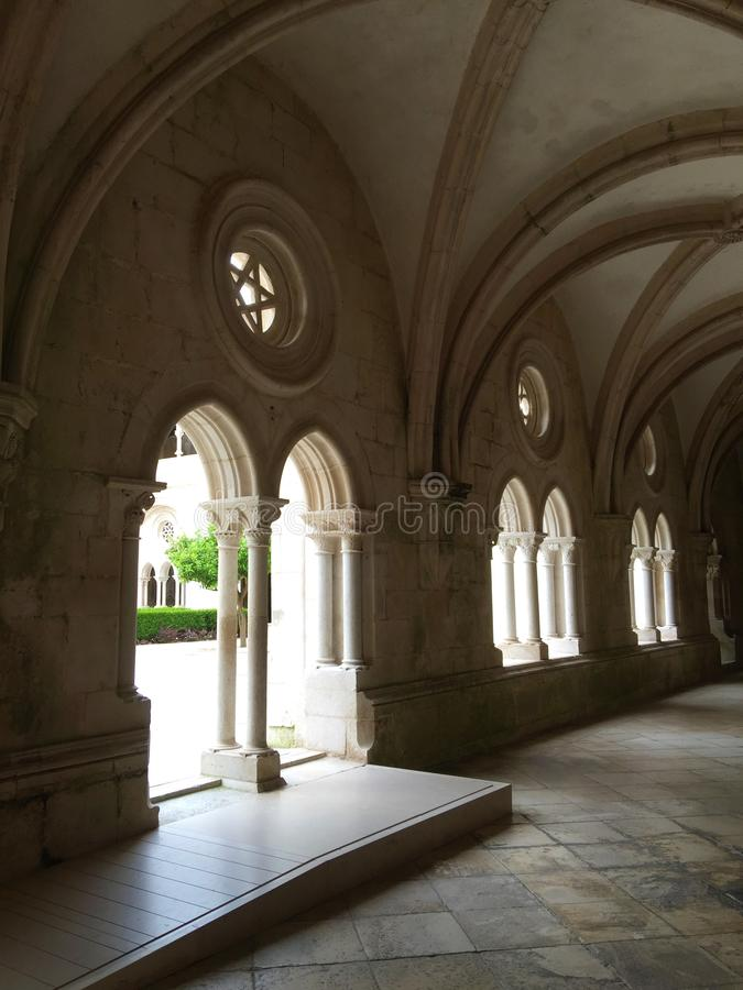 Εγγενές όνομα πορτογαλικά μοναστηριών Alcobaça: Mosteiro de Alcobaça στοκ φωτογραφία
