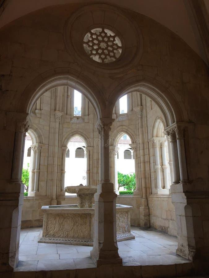 Εγγενές όνομα πορτογαλικά μοναστηριών Alcobaça: Mosteiro de Alcobaça στοκ φωτογραφίες