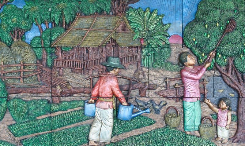 Εγγενής ταϊλανδικός στόκος πολιτισμού στοκ φωτογραφίες