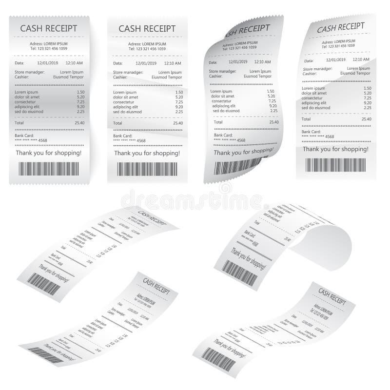 Εγγράφου έλεγχος που απομονώνεται οικονομικός Πρότυπο του Μπιλ ATM, καφές ή οικονομικός έλεγχος εγγράφου εστιατορίων ελεύθερη απεικόνιση δικαιώματος