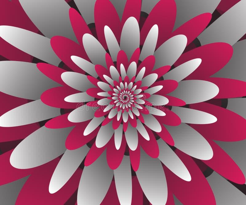 Εγγράφου περικοπών λουλουδιών spiralHi-τεχνολογίας διανυσματικό φουτουριστικό σχέδιο απεικόνισης γραφικής παράστασης διανυσματικό διανυσματική απεικόνιση