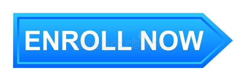 εγγράψτε τώρα το κουμπί ελεύθερη απεικόνιση δικαιώματος