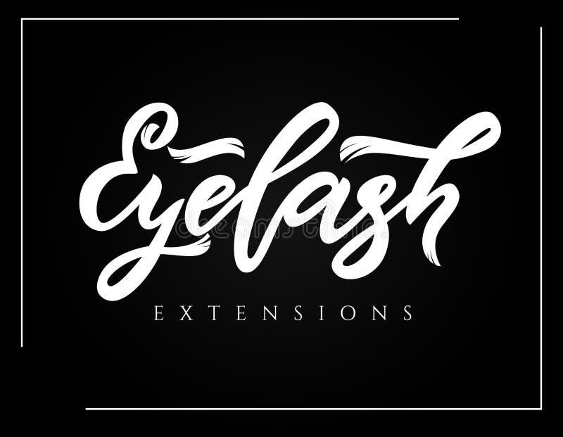 Εγγραφή καλλιγραφίας χεριών επεκτάσεων Eyelash r ελεύθερη απεικόνιση δικαιώματος
