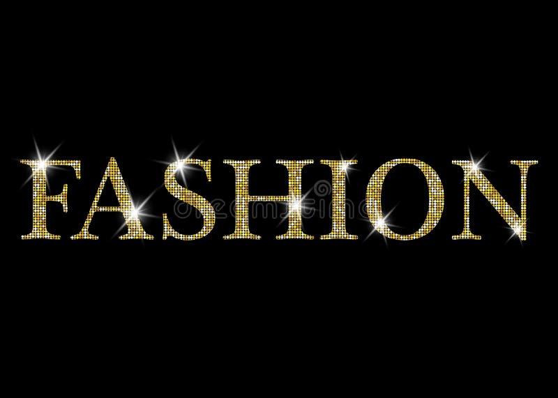 Εγγραφή μόδας Χρυσές λαμπρές ακτινοβολώντας διανυσματικές επιστολές μόδας Μπορέστε να χρησιμοποιηθείτε για την τυπωμένη ύλη: τσάν απεικόνιση αποθεμάτων