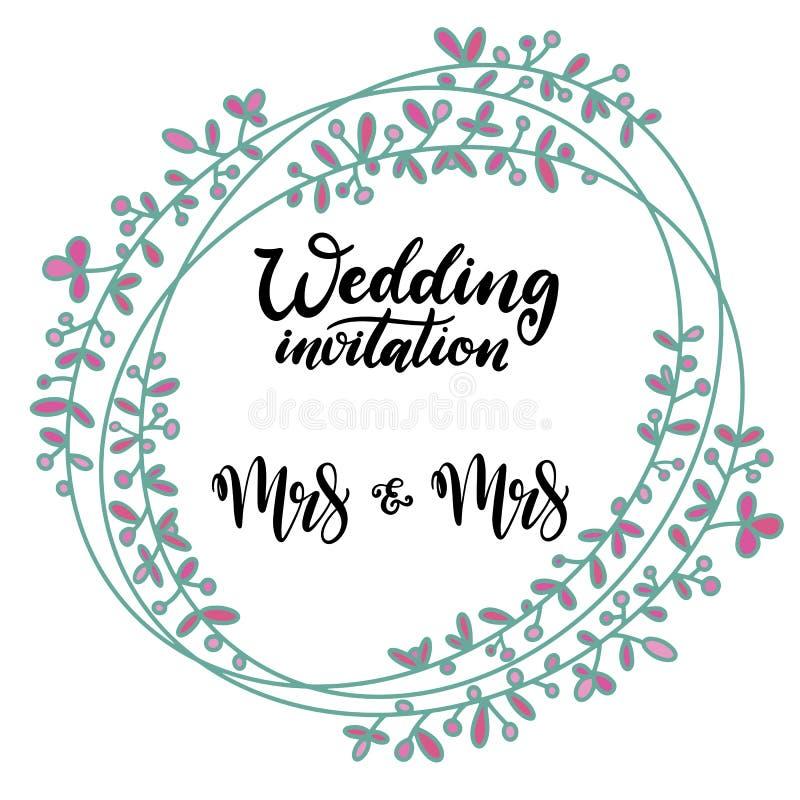 Εγγραφή υπερηφάνειας Lgbt για το γάμο ομοφυλοφίλων απεικόνιση αποθεμάτων