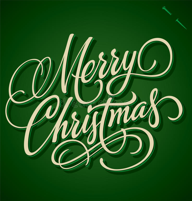 Εγγραφή χεριών Καλών Χριστουγέννων (διάνυσμα) διανυσματική απεικόνιση