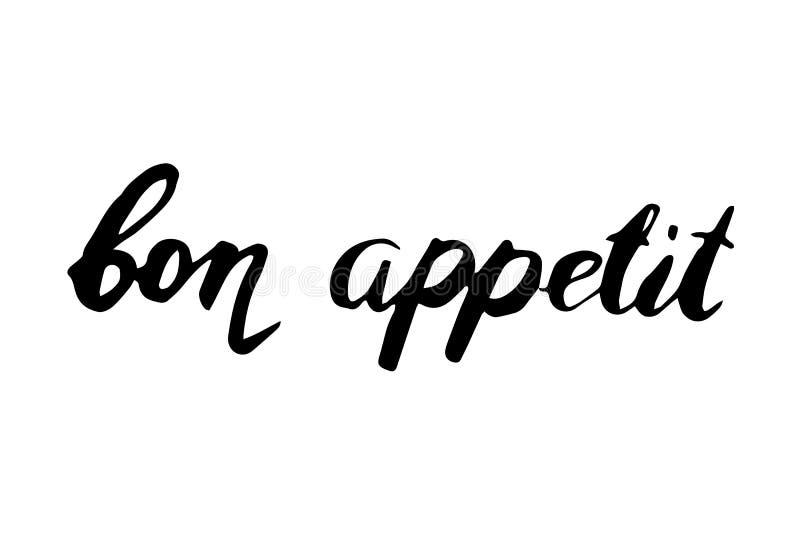 Εγγραφή χεριών Appetit Bon ελεύθερη απεικόνιση δικαιώματος