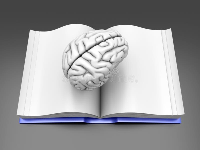 εγκέφαλος βιβλίων διανυσματική απεικόνιση