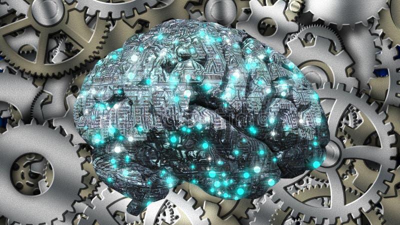Εγκέφαλος μηχανών ελεύθερη απεικόνιση δικαιώματος