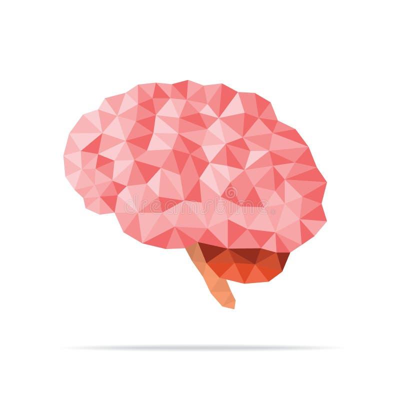Εγκέφαλος που εδροτομείται πολύτιμους λίθους διανυσματική απεικόνιση