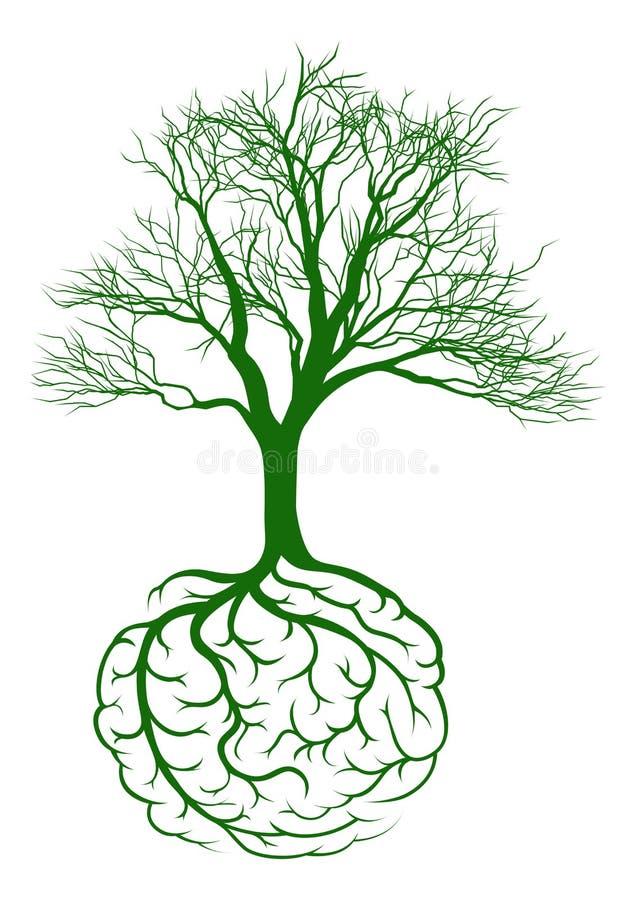 Εγκέφαλος ριζών διανυσματική απεικόνιση
