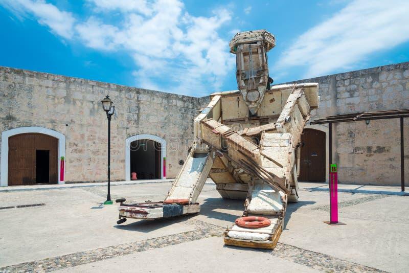 Εγκατάσταση τέχνης στη μπιενάλε της Αβάνας στοκ εικόνα με δικαίωμα ελεύθερης χρήσης