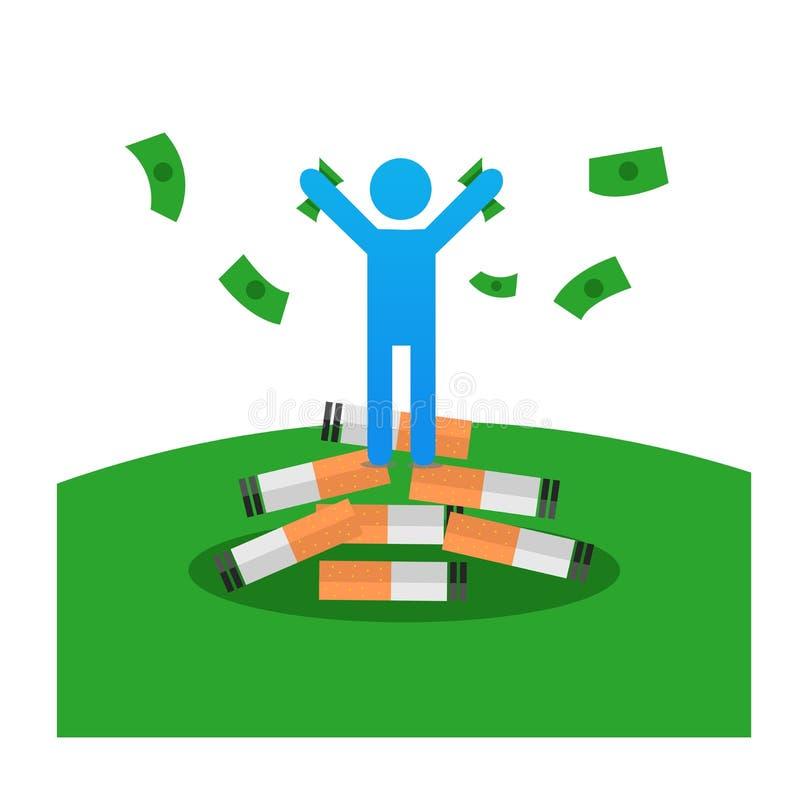Εγκαταλείψτε και κερδίστε χρήματα διανυσματική απεικόνιση
