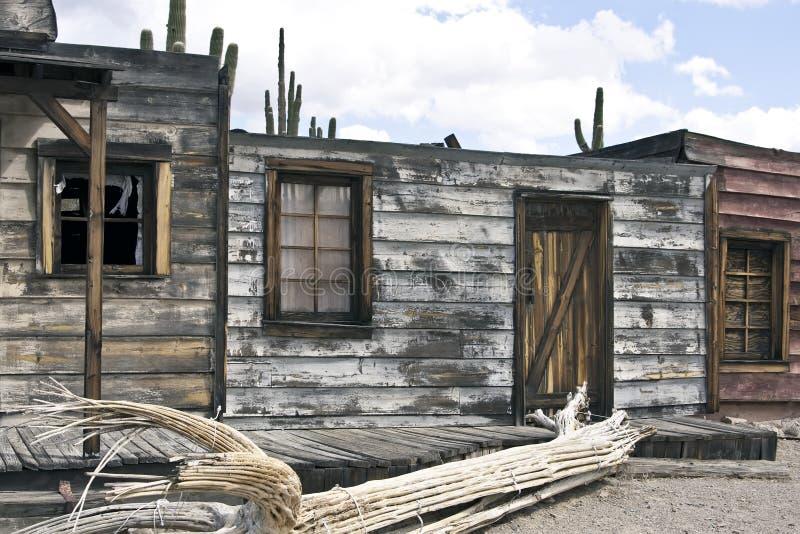 Εγκαταλειμμένη παλαιά δυτική πόλη ΗΠΑ της Αριζόνα στοκ φωτογραφία