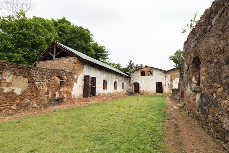 Εγκαταλειμμένη φυλακή σε Salvation& x27 νησιά του s, γαλλική Γουιάνα στοκ φωτογραφία με δικαίωμα ελεύθερης χρήσης