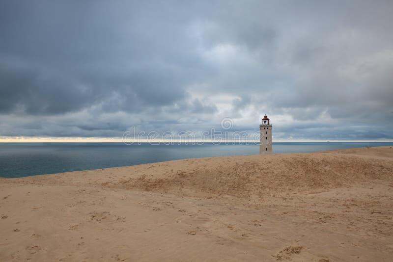 Εγκαταλειμμένος φάρος Rubjerg Knuhe, Γιουτλάνδη, Δανία στοκ φωτογραφίες με δικαίωμα ελεύθερης χρήσης