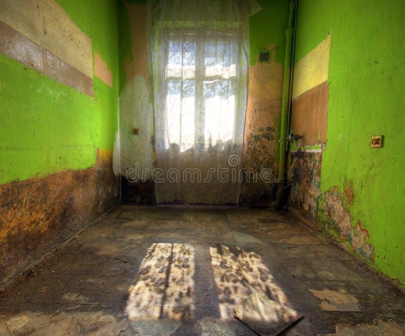 εγκαταλειμμένο δωμάτιο στοκ εικόνες