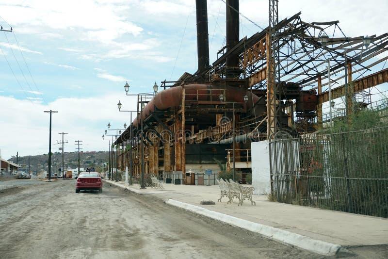 Εγκαταλειμμένο εργοστάσιο σε Santa Rosalia Μεξικό στοκ εικόνες με δικαίωμα ελεύθερης χρήσης