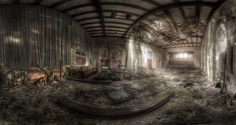 εγκαταλειμμένο θέατρο στοκ φωτογραφίες