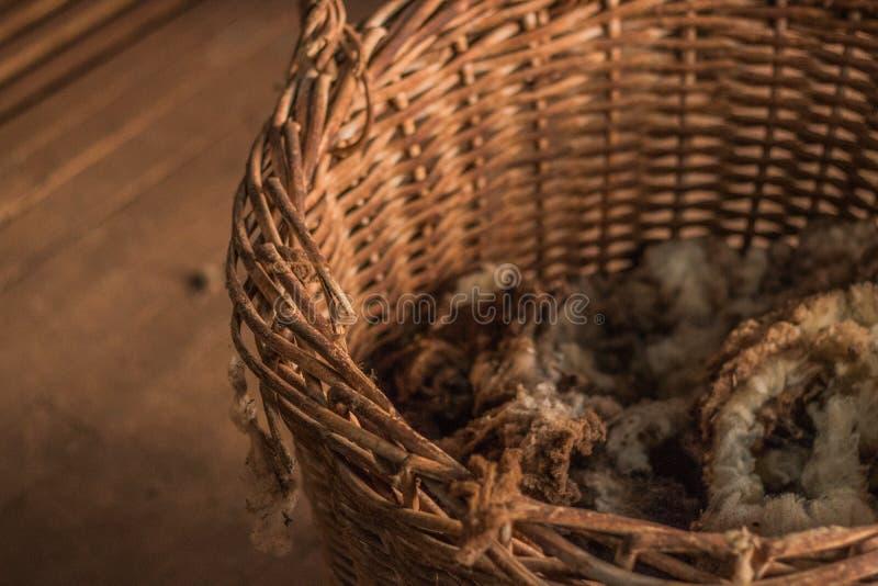 Εγκαταλειμμένο καλάθι του μαλλιού στοκ φωτογραφία