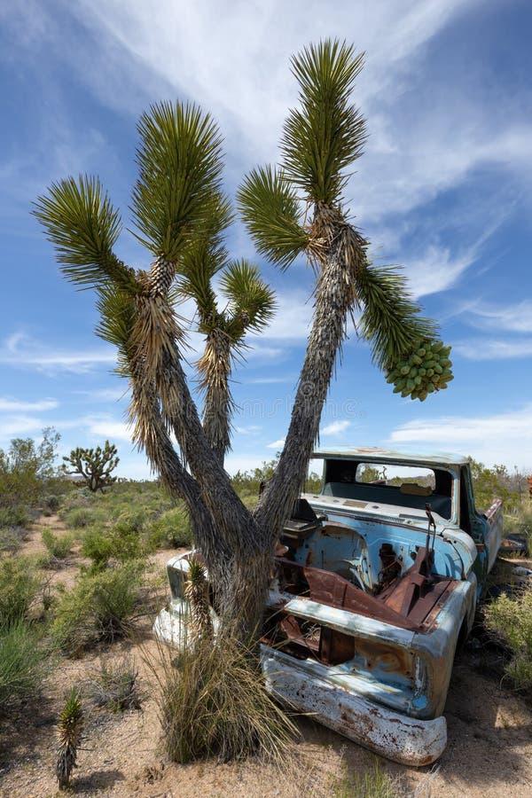 Εγκαταλειμμένο παλαιό αυτοκίνητο στην έρημο στοκ φωτογραφία με δικαίωμα ελεύθερης χρήσης
