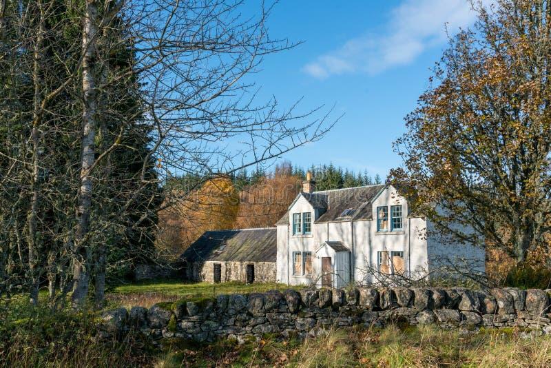 Εγκαταλειμμένο σπίτι στην επαρχία Perthshire στοκ φωτογραφία με δικαίωμα ελεύθερης χρήσης