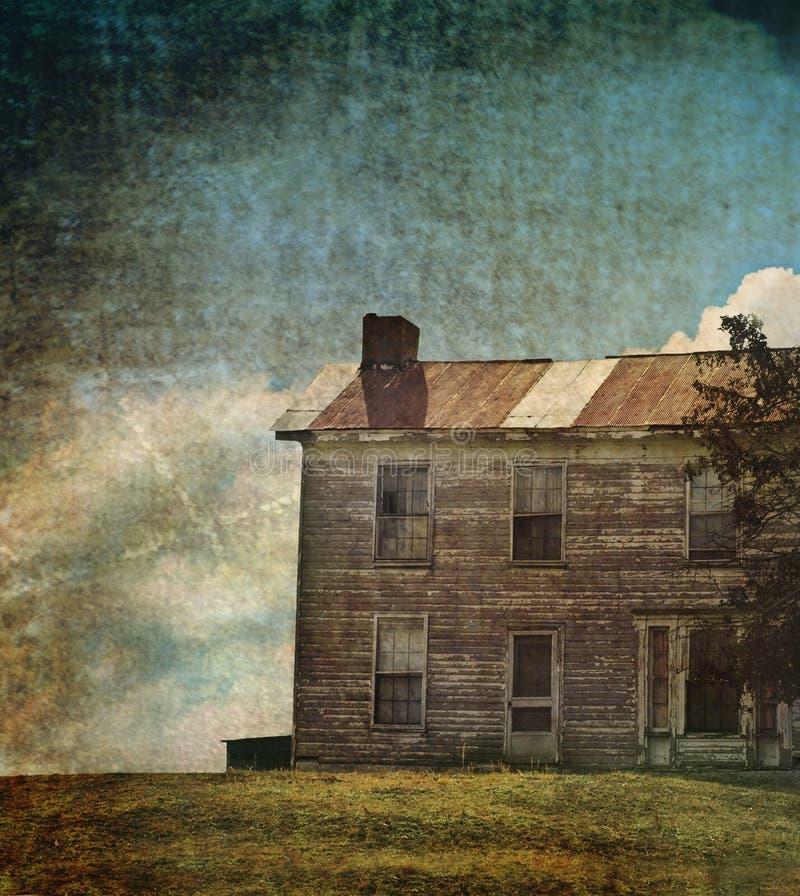 εγκαταλειμμένο σπίτι ελεύθερη απεικόνιση δικαιώματος