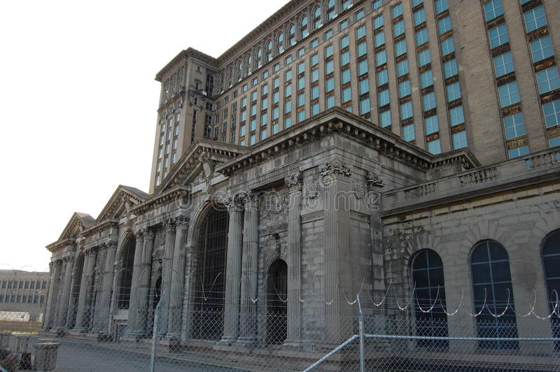 Εγκαταλελειμμένος κεντρικός σταθμός Ντιτρόιτ Μίτσιγκαν ΗΠΑ Michican στοκ φωτογραφίες με δικαίωμα ελεύθερης χρήσης