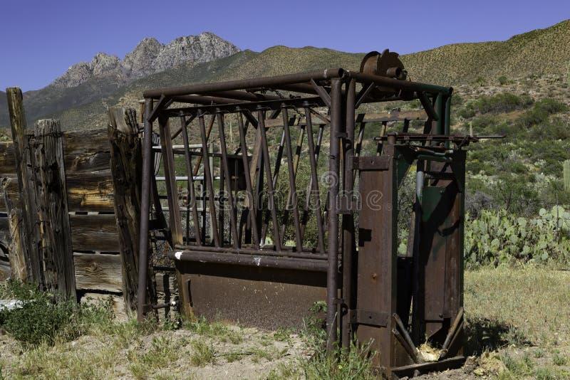 Εγκαταλελειμμένο αλεξίπτωτο σε ράντσο Αριζόνα στοκ φωτογραφία με δικαίωμα ελεύθερης χρήσης