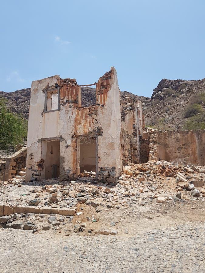 Εγκαταλελειμμένο σπίτι Boa Vista, Πράσινο Ακρωτήριο στοκ εικόνα με δικαίωμα ελεύθερης χρήσης