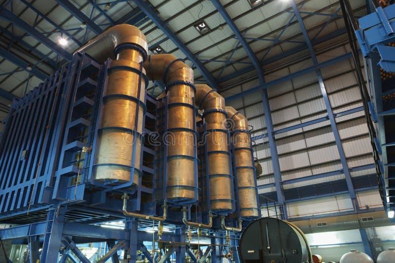 Εγκαταστάσεις αφαλάτωσης του σταθμού παραγωγής ηλεκτρικού ρεύματος στοκ φωτογραφίες
