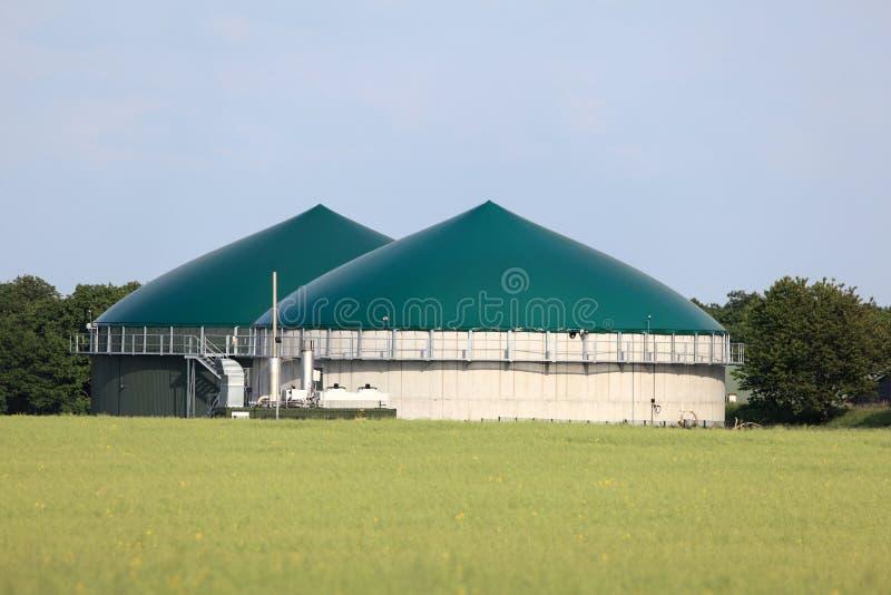 Εγκαταστάσεις βιοαερίων στοκ εικόνες