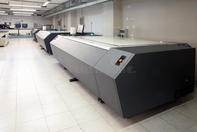 Εγκαταστάσεις εκτύπωσης - Flexographic πιάτα εκτύπωσης στοκ φωτογραφία με δικαίωμα ελεύθερης χρήσης