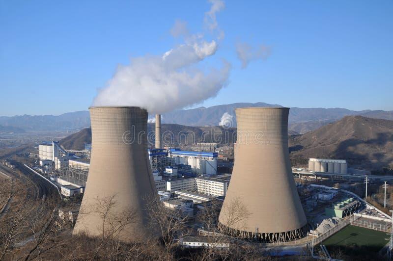 Εγκαταστάσεις παραγωγής ενέργειας άνθρακα στοκ φωτογραφία με δικαίωμα ελεύθερης χρήσης