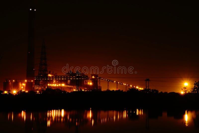 Εγκαταστάσεις παραγωγής ενέργειας NSPCL Bhilai, Bhilai Chhattishgarh στοκ εικόνα με δικαίωμα ελεύθερης χρήσης