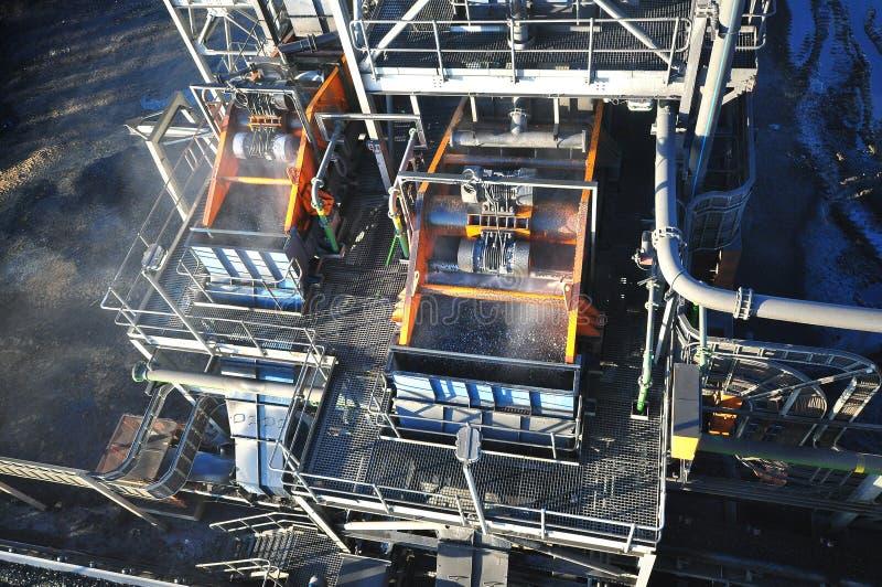 Εγκαταστάσεις πλυσίματος άνθρακα στοκ εικόνα με δικαίωμα ελεύθερης χρήσης