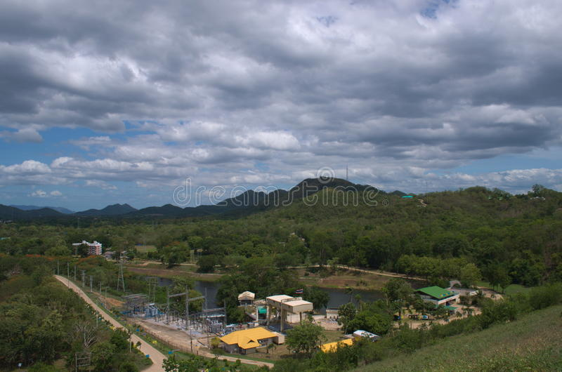 Εγκαταστάσεις υδροηλεκτρικής ενέργειας Krachan Kaeng στοκ φωτογραφία