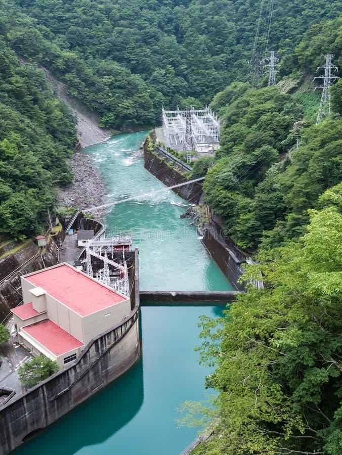 Εγκαταστάσεις υδρο παραγωγής ενέργειας Ikawa στοκ εικόνες