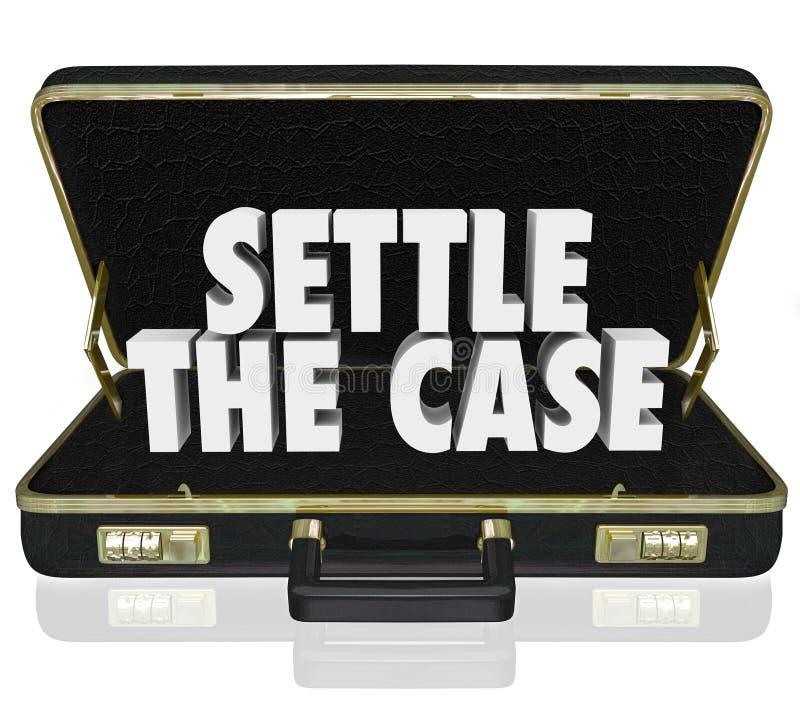 Εγκαταστήστε την περίπτωση τελειώνει το χαρτοφύλακα δίκης διαπραγματεύεται την τακτοποίηση de διανυσματική απεικόνιση