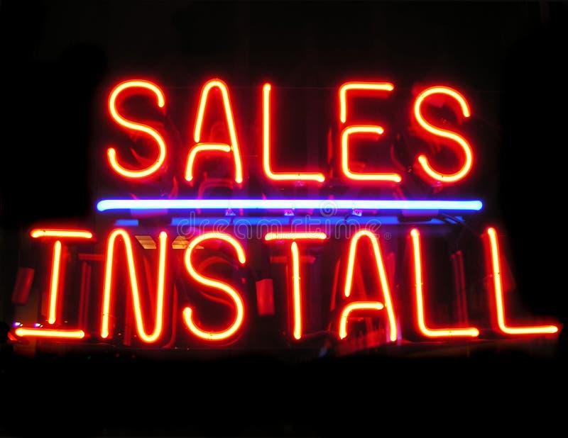 εγκαταστήστε τις πωλήσεις στοκ φωτογραφία με δικαίωμα ελεύθερης χρήσης