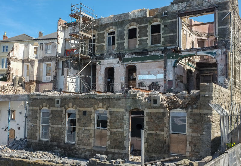 Εγκαταλειμμένη ανάπτυξη ιδιοκτησίας στοκ φωτογραφίες