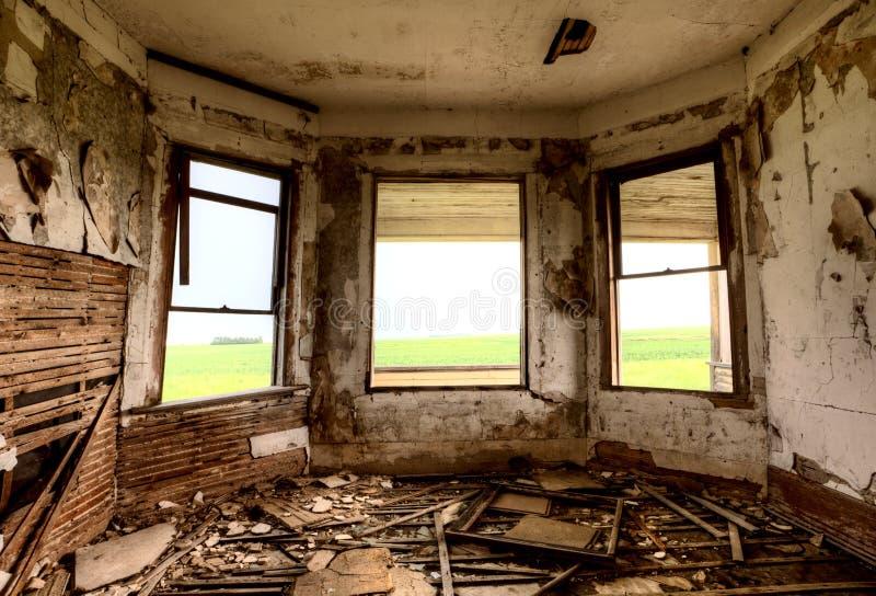 Εγκαταλειμμένη εσωτερικό οικοδόμηση στοκ φωτογραφία με δικαίωμα ελεύθερης χρήσης